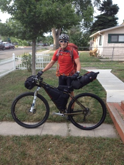 About to embark on the Colorado Trail, from our front door. 486 miles.