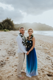 Our happy place. We were married on Hanalei Bay in Kauai, June 2016.