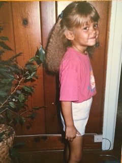 One of my favorite pictures of myself when I was little. I was very proud of my outfit and my crimped hair from my braid.