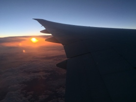 Over the Pacific ocean.